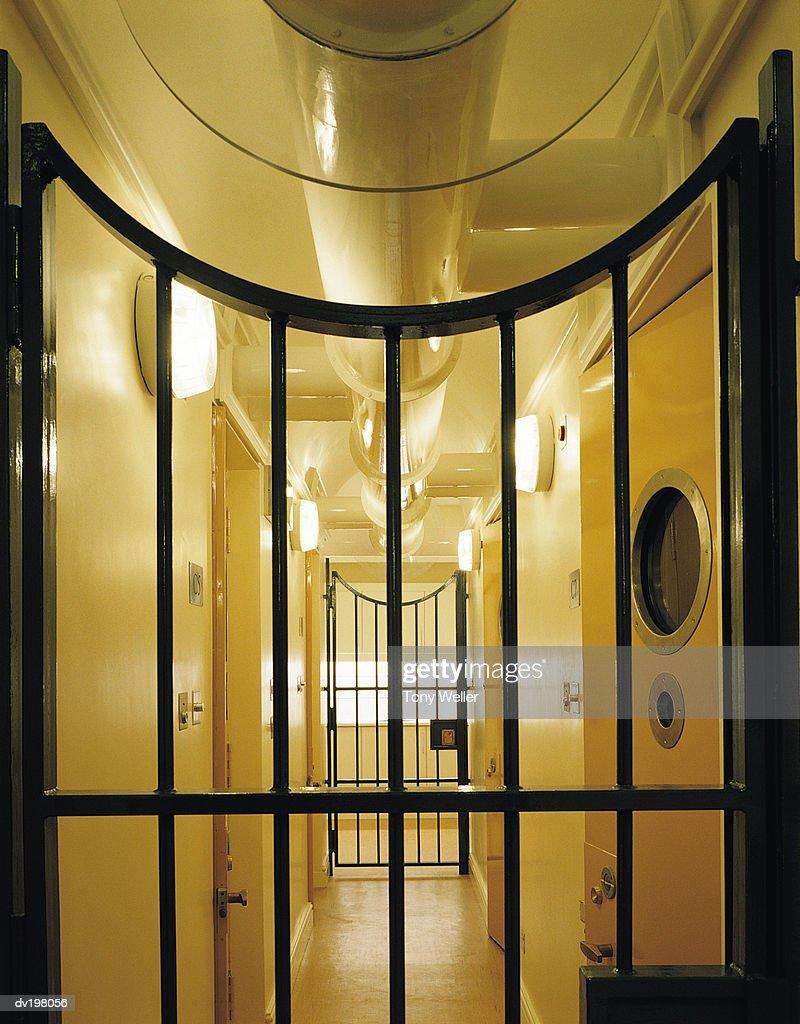 Secure corridor in jail : Stock Photo