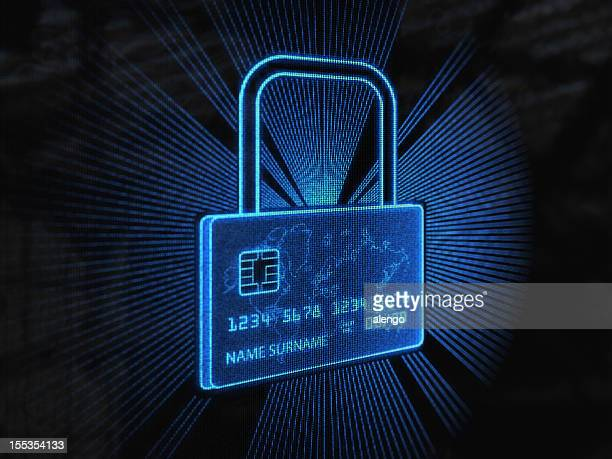 Secure credit card (Blue)