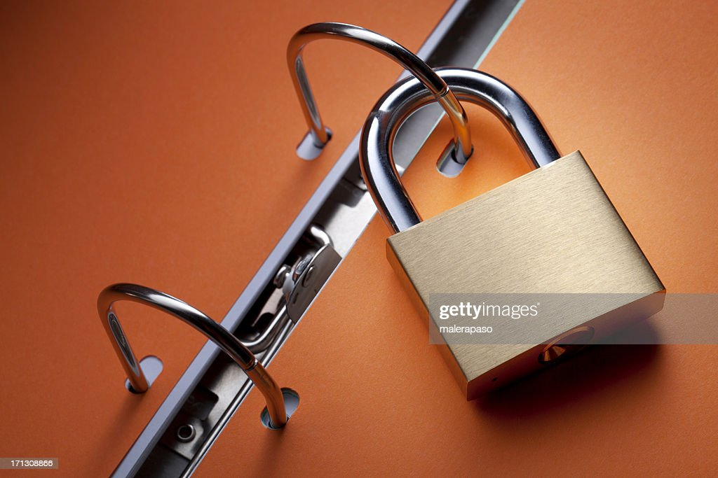 Secure files : Stock Photo