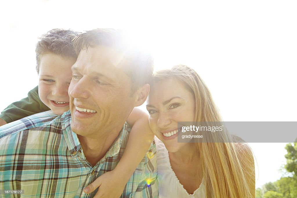 Secure in his parent's love : Stock Photo