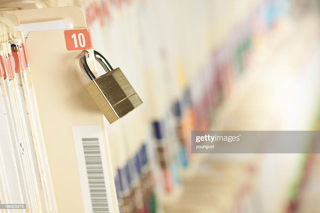 Secure Medical Records : Stock Photo
