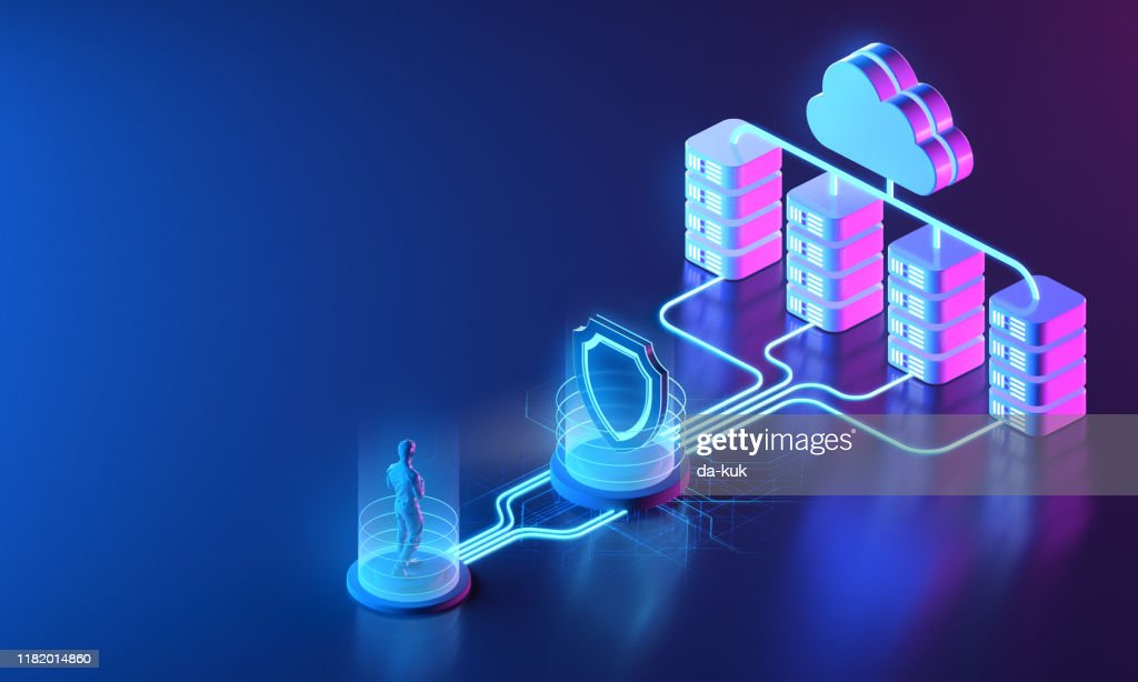 Secure network concept : Stock Photo