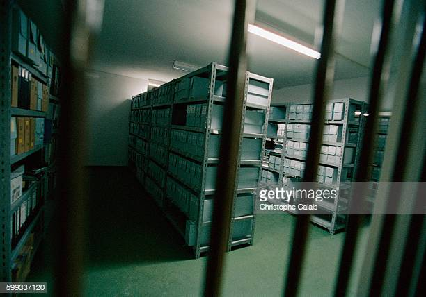 Secure room housing the crucial evidence for the trial gathered by investigators