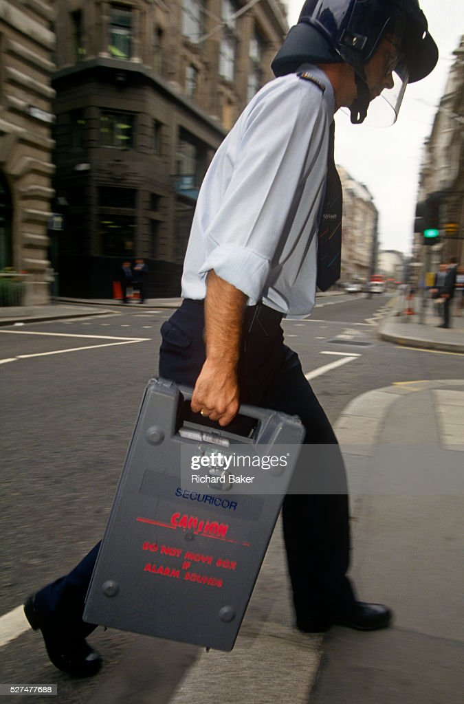 Phenomenal A Securicor Guard Delivers A Cash Box To A City Of London Bank Wiring Cloud Usnesfoxcilixyz