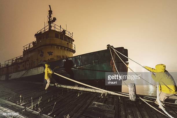 Securing The Mooring Lines