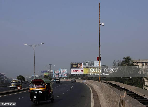 Security After 26/11 Attack Bridges Flyover CNG Autorickshaw Hoardings A CCTV Camera installed at the Kala Nagar flyover in Bandra along the western...