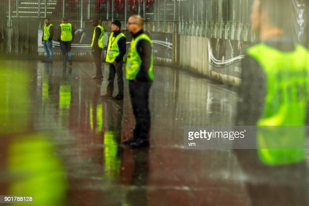 security at a sporting event - security stock pictures, royalty-free photos & images