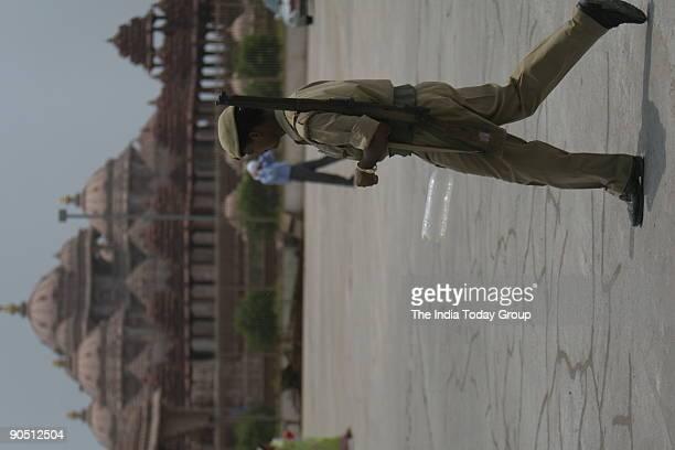 Security at Akshardham Temple in New Delhi