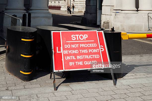 security barrier in whitehall - editorial stock pictures, royalty-free photos & images