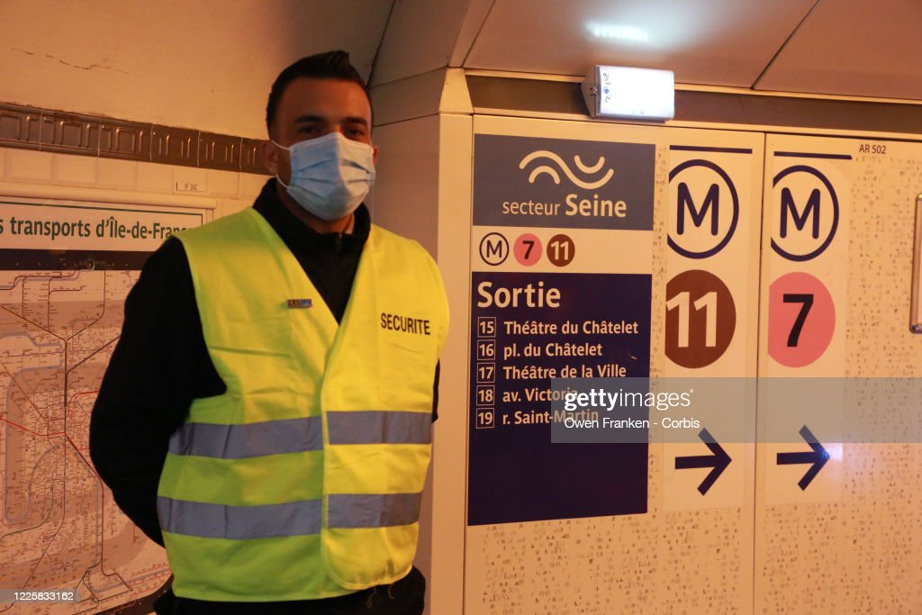 Security Between Metros The Chatelet Station Paris Checking People News Photo Getty Images