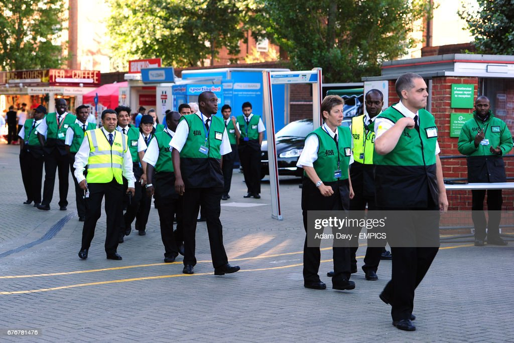 Security by the turnstiles at The Brit Oval News Photo - Getty Images