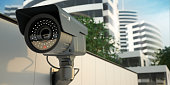 Security camera, 3D illustration