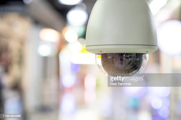cctv security camera. cctv fix dome type in the shopping mall building. - business security camera stock pictures, royalty-free photos & images