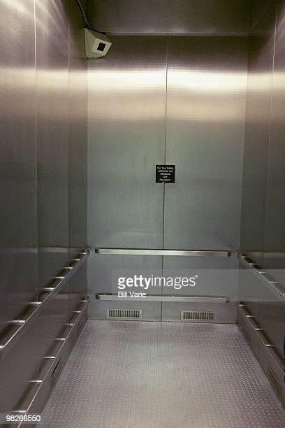 Security camera in elevator