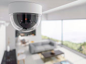 Security Camera in living room