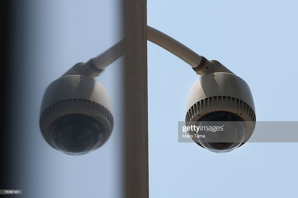 A security camera is seen across the street from the World Trade Center site July 9, 2007 in New York City. A London-style surveillance system, dubbed the Lower Manhattan Security Initiative, is being planned to blanket the area with 3,000 security cameras and other measures in an effort to detect terrorists.