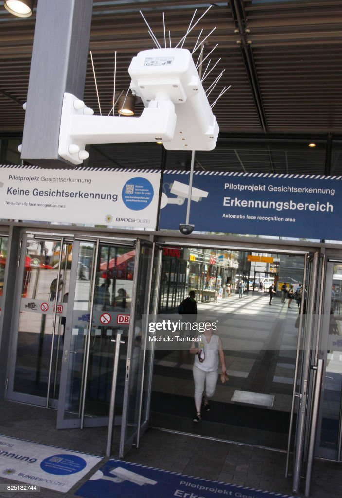 A security camera monitors the Suedkreuz train station on August 1, 2017 in Berlin, Germany. German federal police have started a six-month test at the Suedkreuz station of facial recognition software. Over the past weeks police have asked for volunteers, passengers who frequently use the station, to allow themselves to be photographed and participate in the project. Approximately 275 people responded. The test project will run for the next six months and is designed to help authorities in the fight against terrorism.