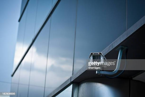 security camera on building - security stock pictures, royalty-free photos & images