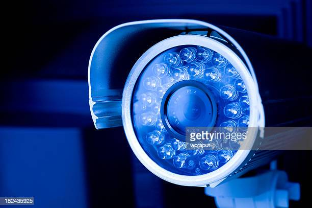 security camera - infrared lamp stock photos and pictures
