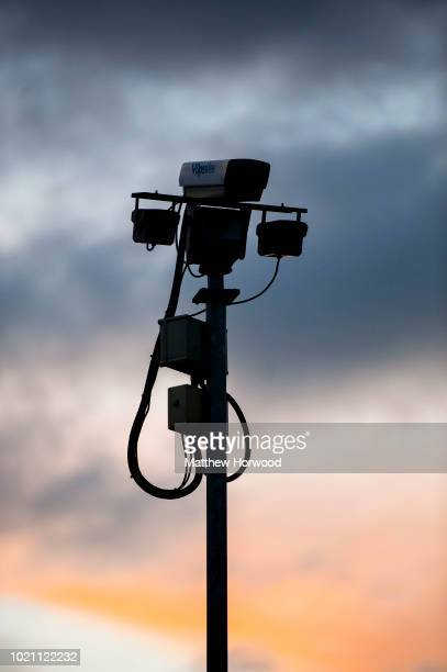 CCTV security camera seen on April 04 2014 in Cardiff United Kingdom
