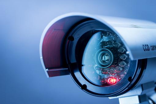 Security CCTV camera in office building 482112104