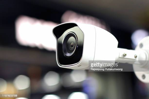 security cctv camera or surveillance system, operating inside the building. - surveillance camera stock pictures, royalty-free photos & images