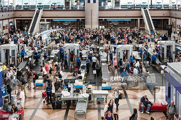 TSA security check at Denver international airport