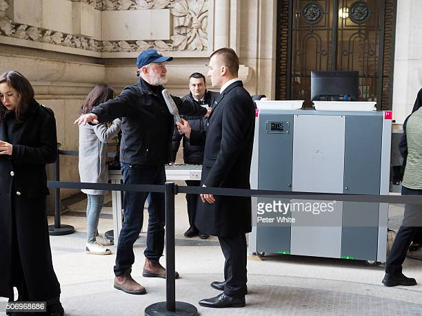 Security check before Chanel Spring Summer 2016 show as part of Paris Fashion Week on January 26 2016 in Paris France