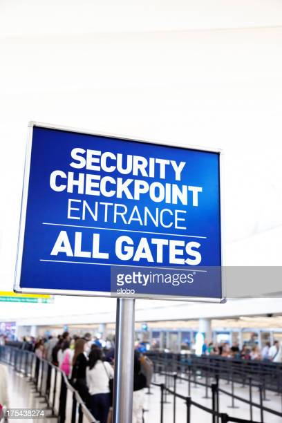 Security checkpoint for airport security