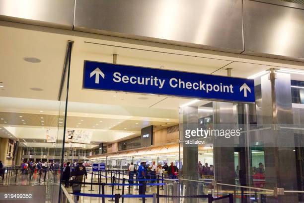 Security Checkpoint sign at the airport