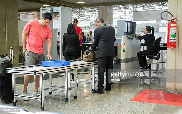 Security checks at Brasilia Airport, Brazil
