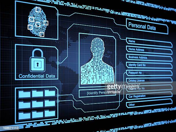 security concept - biometrics stock photos and pictures