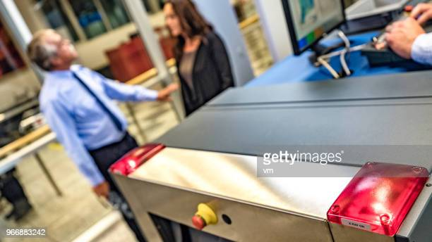 security control at the airport - security scanner stock pictures, royalty-free photos & images