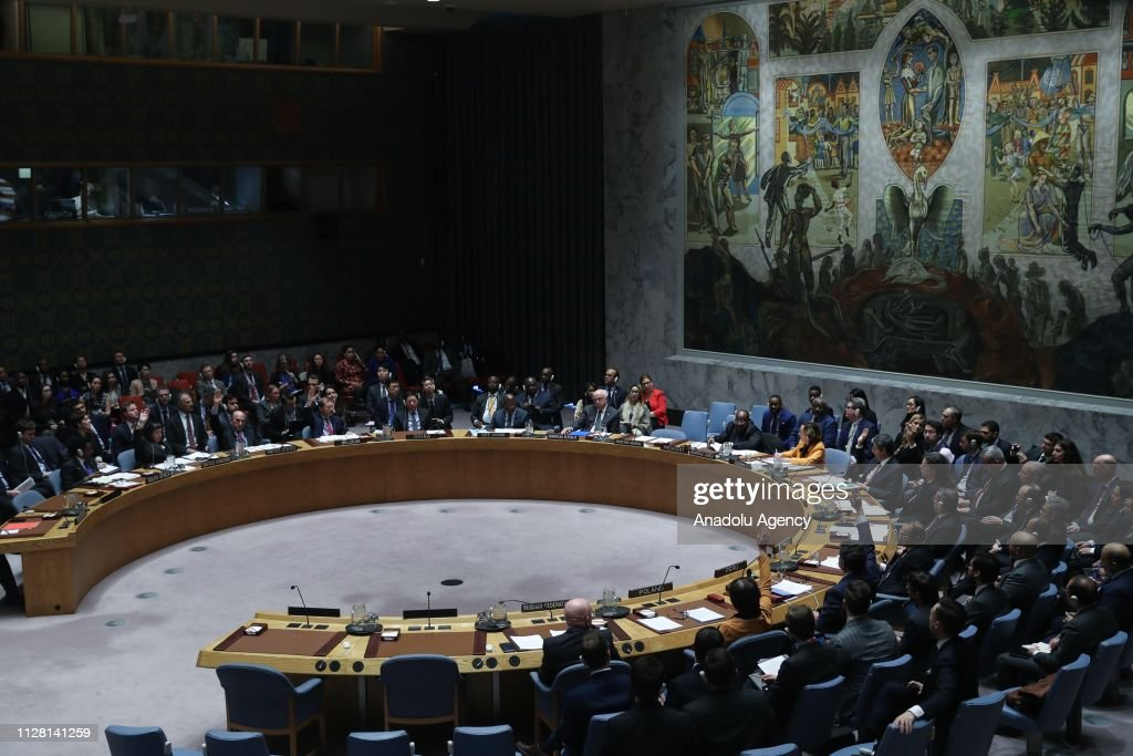 United Nations Security Council Meeting : Nachrichtenfoto