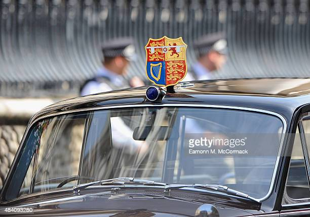 Security during the 70th Anniversary commemorations of VJ Day at St MartinintheFields Church on August 15 2015 in London England The event marks the...