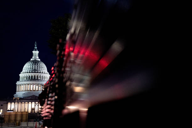 DC: Security Fencing Installed Outside U.S. Capitol Ahead Of Justice For J6 Rall