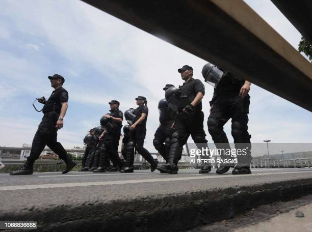 Security forces are deployed in Buenos Aires on November 30 during the G20 Leaders' Summit G20 powers open two days of summit talks on Friday after a...