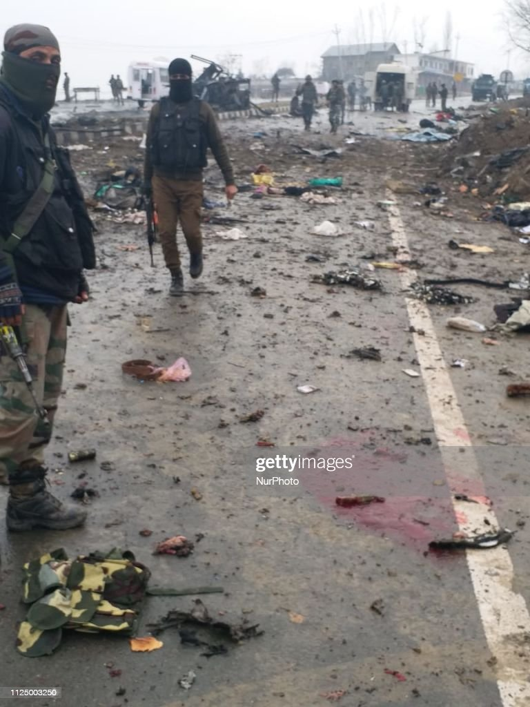 At Least 30 CRPF Jawans Killed, 48 Injured In IED Blast In Kashmir's Pulwama : News Photo