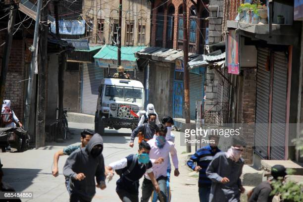 Security forces chased Stone pelters during clashes in Anantnag after Friday Prayers