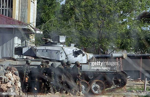 Security forces guard after AlShabaab terrorists shot the students' way into Garissa University College at least 147 students were killed and 79...