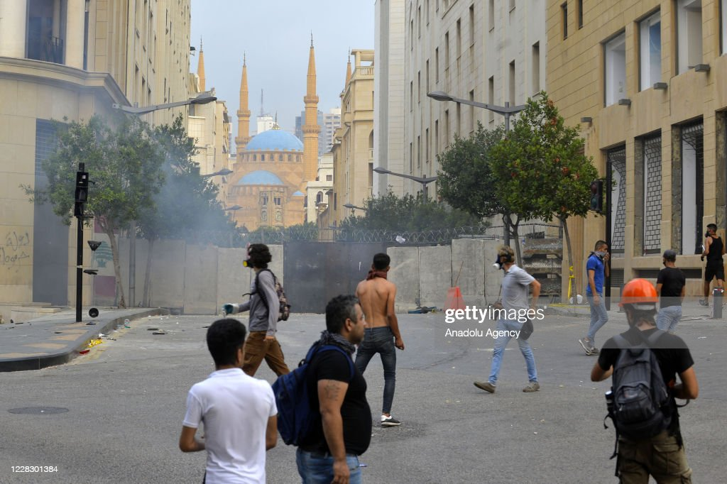Demonstration in Beirut : News Photo