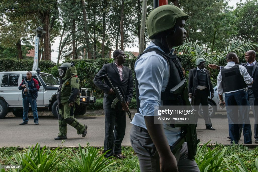 Attack On Hotel Complex in Nairobi : News Photo