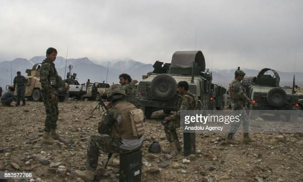 Security forces take measures as approximately 9000 families fled from DaeshTaliban conflict at a safe zone in Hogyani district of Nangarhar...
