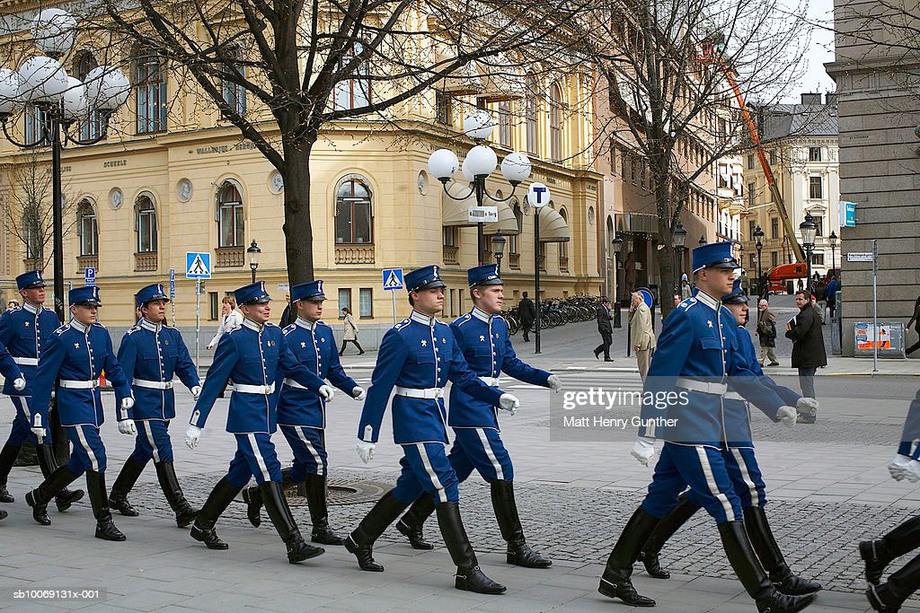 Security guard in parade : Stockfoto
