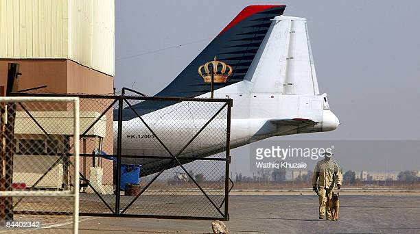 A security guard is seen on January 22 2009 at Baghdad airport in Baghdad Iraq The provincial elections are scheduled to take place on January 31st