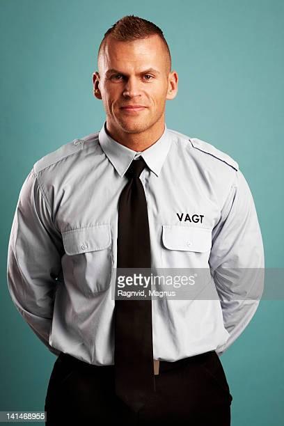 security guard, portrait - uniform stockfoto's en -beelden