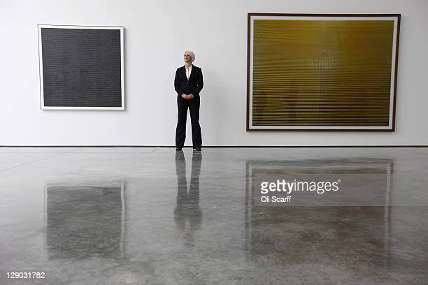 A security guard stands in the new White Cube gallery in Bermondsey on October 11 2011 in London England The third White Cube gallery in Bermondsey...