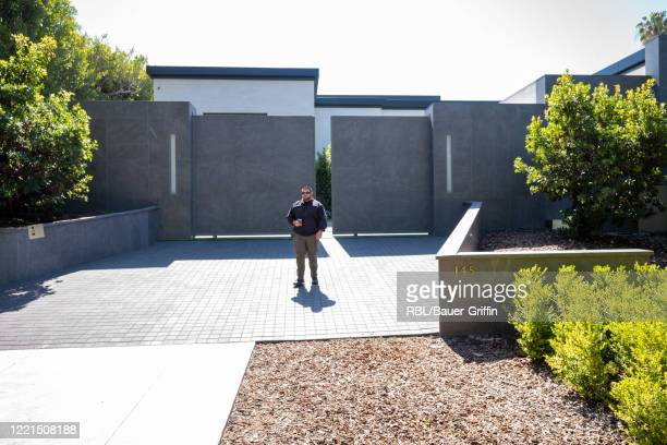 A security guard stands outside of new $365 million dollar home reportedly purchased by Kylie Jenner in Holmby Hills on April 27 2020 in Los Angeles...