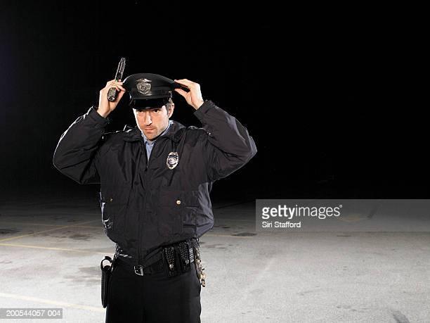 Security guard with gun fixing cap