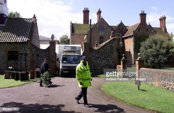 Security Guards outside Coldhan Hall in Suffolk the new home of model Claudia Schiffer and her Partner Film producer Matthew Vaughn who are due to...